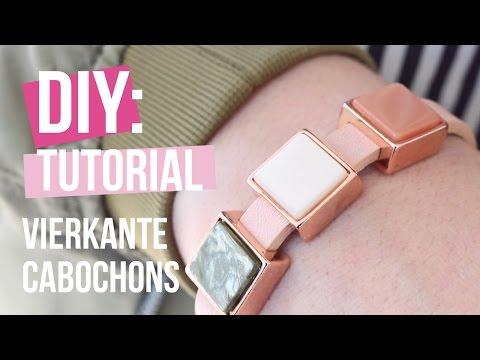 Sieraden maken: Cuoio armband met vierkante Cabochon van Polaris Elements ♡ DIY