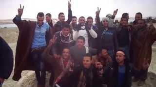 عمال القناة يهتفون تحيا مصر والجيش المصرى فى البلاح 19فبراير