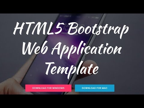 Free Bootstrap Web Application Template YouTube