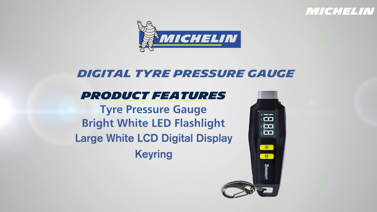Michelin Digital Tyre Pressure Gauge Youtube
