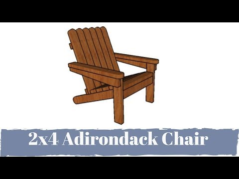 How to Build an Adirondack Chair from 2x4s Plans
