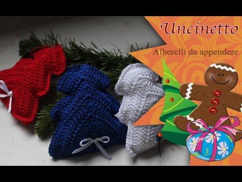 Albero Di Natale Uncinetto Youtube.Uncinetto Natale Alberelli Da Appendere How To Do Christmas Balls Tree Youtube