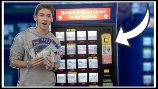 ★Lottery Ticket Machine GLITCH Gives Out FREE TICKETS!?!! Lottery Ticket Challenge | ClawTuber