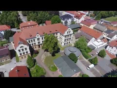 NIESKY - Flying over the city with NY in Saxony with a drone of new generation - Germany