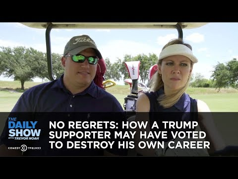 No Regrets: How a Trump Supporter May Have Voted to Destroy His Own Career  The Daily