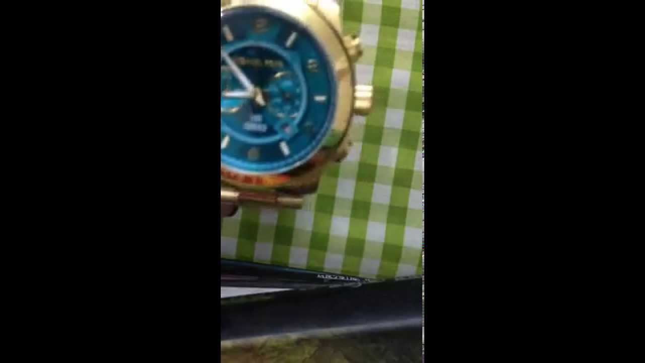 ac4eead97c31 Michael Kors Hunger Stop MK8315 Gold Tone watch Review - YouTube