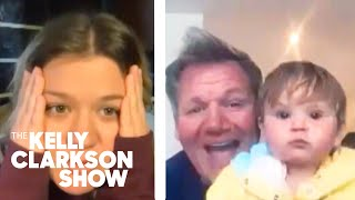 Gordon Ramsay's Precious 1-Year-Old Crashes Interview With Kelly (And Gives Her Baby Fever)
