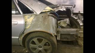 audi s8 d2 замена крыла,стекла,проводки,крышки багажника и  бампера