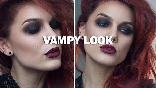 Vampy Look (with subs) - Linda Hallberg Makeup Tutorials Thumbnail