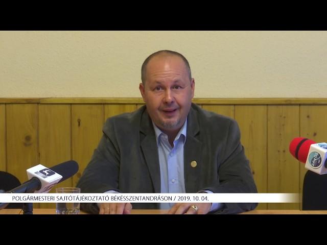 Polgármesteri sajtótájékoztató Békésszentandráson (2019. 10. 04.)
