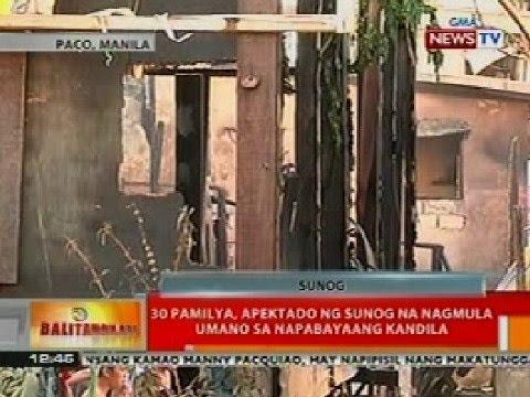 BT: 30 pamilya sa Manila, apektado ng sunog na nagmula sa napabayaang kandila