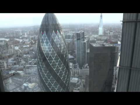 AWESOME AERIAL shots of London, UK + Old Town, Heron Tower, Velodrome, etc [HD]