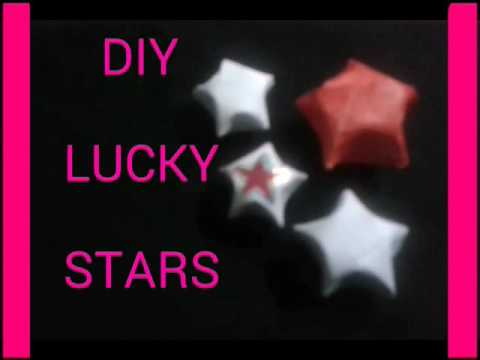 DIY LUCKY PAPER STARS   FUN AND EASY  