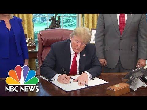 President Donald Trump Signs Executive Order Halting Family Separation At Border | NBC News