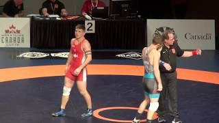 2019 Canadian Trials FS74kg Tyler Rowe (Brock) vs Connor Quinton (Hamilton)