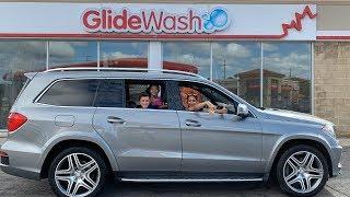 Car Wash and Starbucks drive thru with HZHtube Kids Fun Vlog