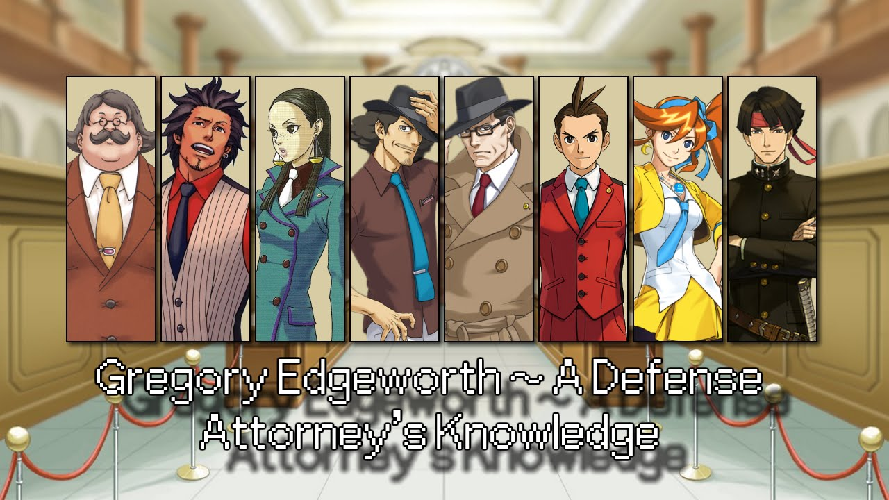 old ace attorney all defense attorney themes 2015 youtube