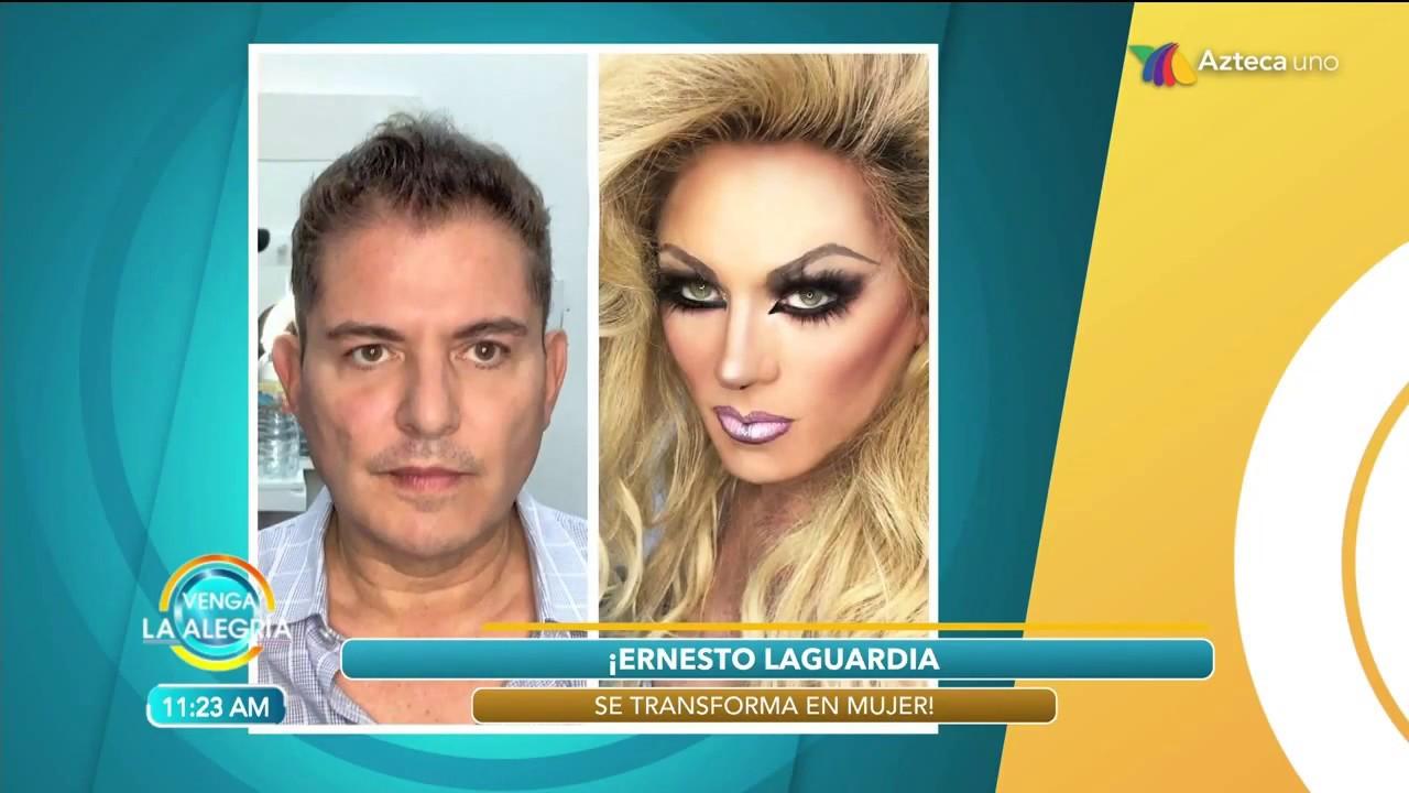 Espectacular Transformación De Ernesto Laguardia A Mujer Sí O No