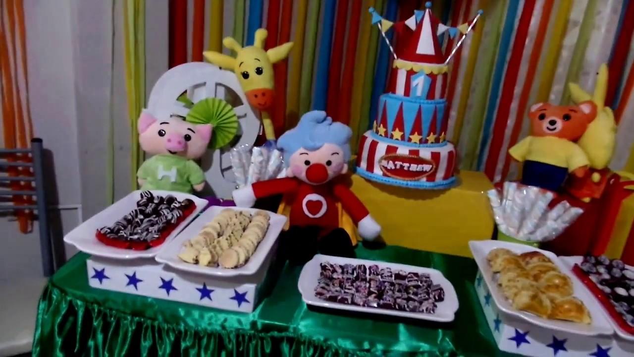 Como decorar para una fiesta infantil tematica payaso plim - Como decorar una fiesta de cumpleanos ...