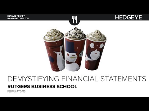 The Key To Understanding Financial Statements: Why We Like SBUX