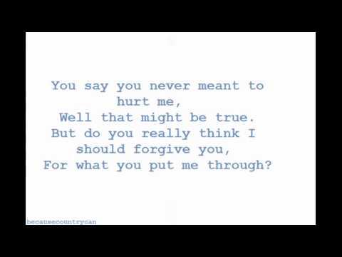 Blake Shelton- I'm Sorry (Lyrics)