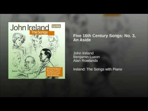 Five 16th Century Songs: No 3, An Aside