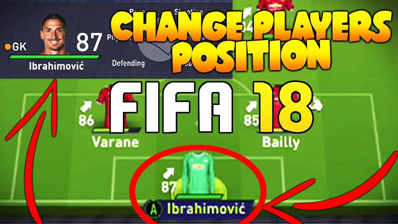 HOW TO CHANGE A PLAYERS POSITION IN FIFA 18 CAREER MODE!   FIFA 18 TIPS AND  TRICKS!
