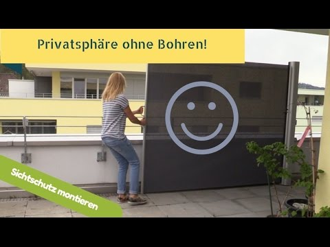 sichtschutz ohne bohren sara machts youtube. Black Bedroom Furniture Sets. Home Design Ideas