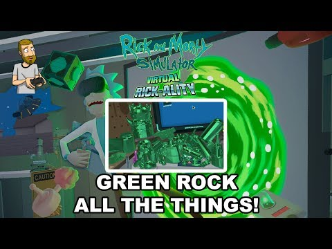 GREEN ROCK ALL THE THINGS! | Rick and Morty Simulator: Virtual Rick-Ality