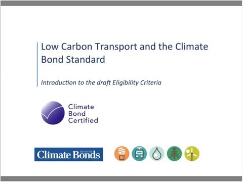 Climate Bonds and SLoCaT introduce the new Low Carbon Transport Climate Bonds Standard