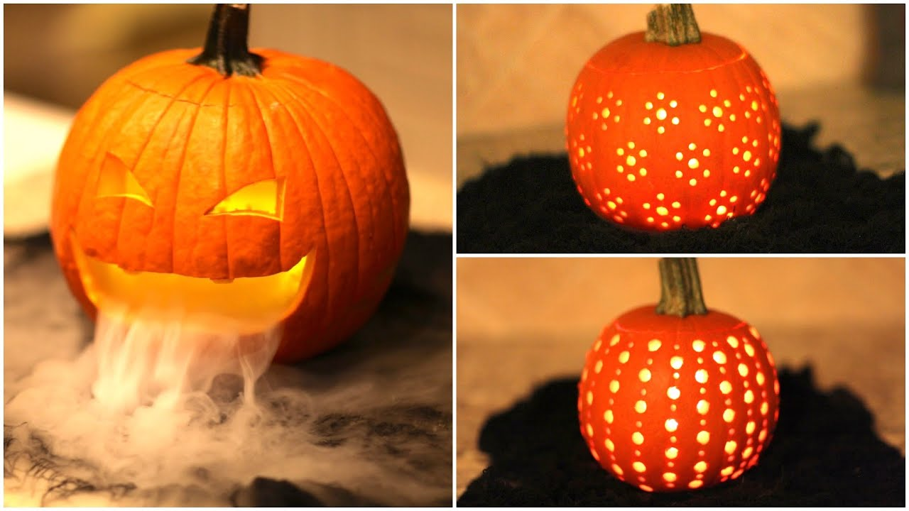 diy pumpkin carvings cute halloween ideas youtube - Cool Halloween Designs
