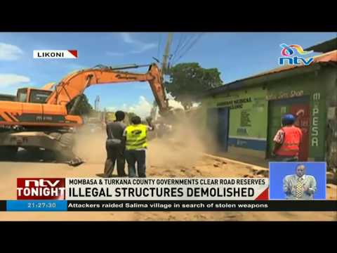 Nairobi county demolishes illegal structures at Country Bus station