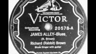 "Richard ""Rabbit"" Brown-James Alley Blues"