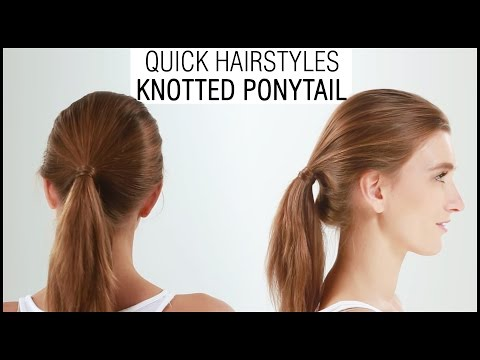 How To Do The Perfect Knotted Ponytail Hairstyle - Tutorial & Tips