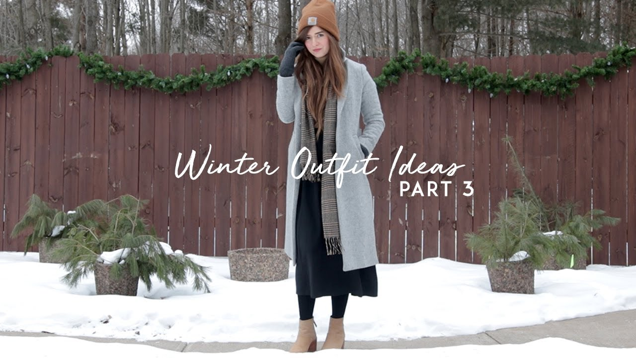 [VIDEO] - Winter Outfits Layering Inspiration - cold & snow | Dearly Bethany 8