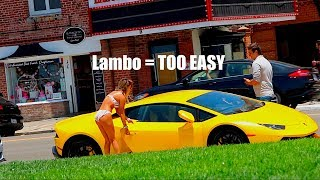 GOLD DIGGER PRANK WITH LAMBORGHINI! *gone right*