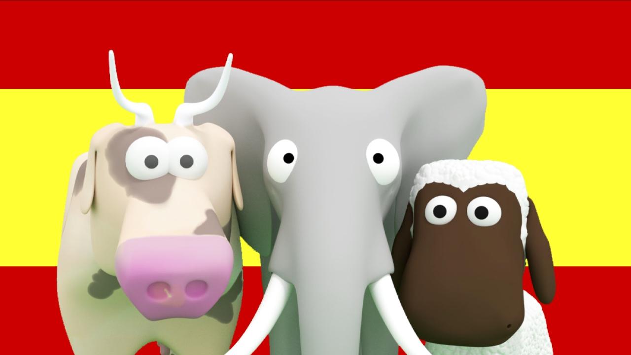 Lær spansk for børn! Lær børn dyr, køretøjer og tal på spansk Tinyschool Dansk