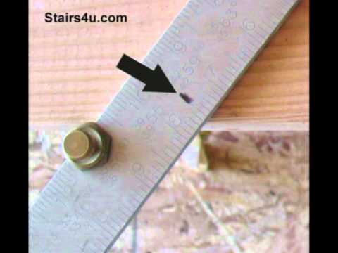 Marking Worn Framing Square - Stair Stringer Layout Secrets - YouTube