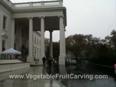 Snow for Halloween at the White House