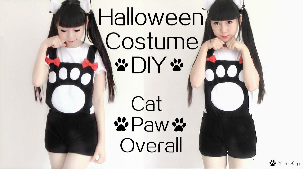 easy halloween costume diy cat paw overall costume inspired by vocaloid len youtube - Cat Costume Ideas Halloween