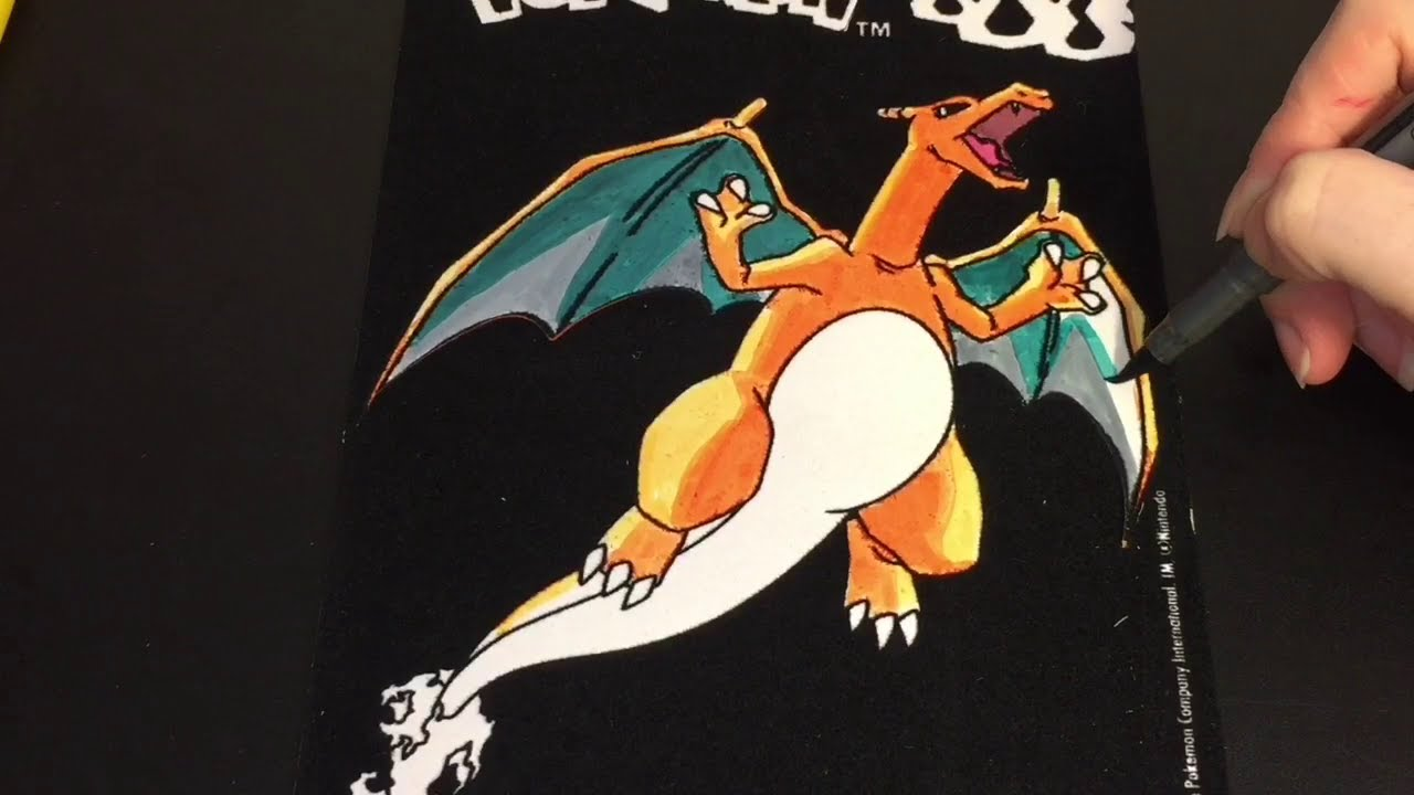 Disney velvet coloring posters - Coloring Time 42 Pokemon Charizard Velvet Mini Poster Speed Coloring With Markers