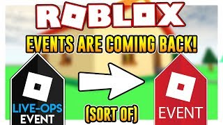 ROBLOX EVENTS ARE COMING BACK! (sort of)