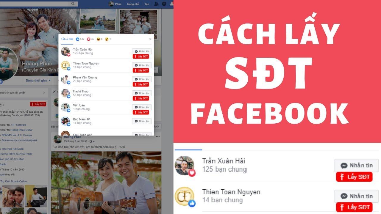 Hướng Dẫn Lấy Số Điện Thoại Trên Facebook, Lấy SĐT Facebook