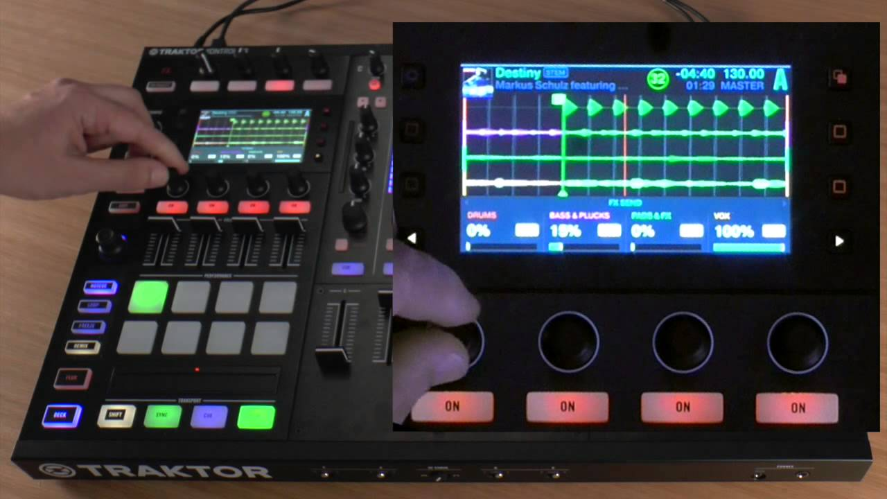 how to use stems files on the traktor kontrol s8 youtube