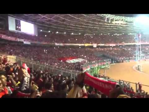 Indonesia Raya di GBK Gelora Bung Karno, bikin merinding..