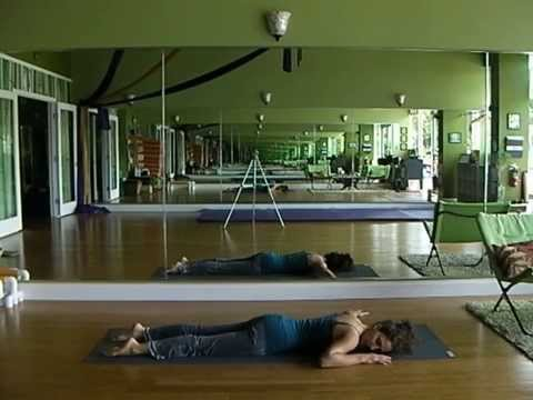 Emily Sabo's 6-7-2014 Short Yoga Class, Indialantic, FL (passive and active deep shoulder stretches)