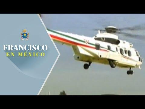 Papa Francisco llega a Campo Marte y parte en helicóptero rumbo a Ecatepec