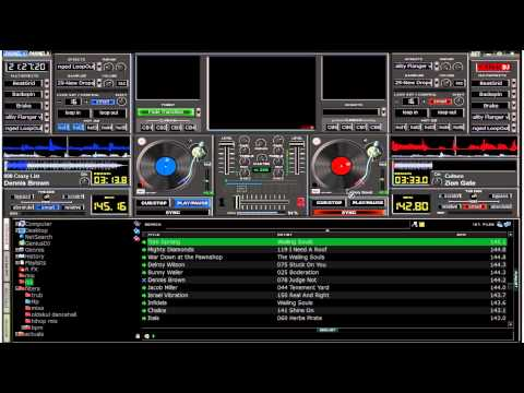 Virtual DJ mixing - roots reggae mix