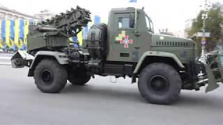 Cпециальные автомобили на выставке военной техники в Киеве
