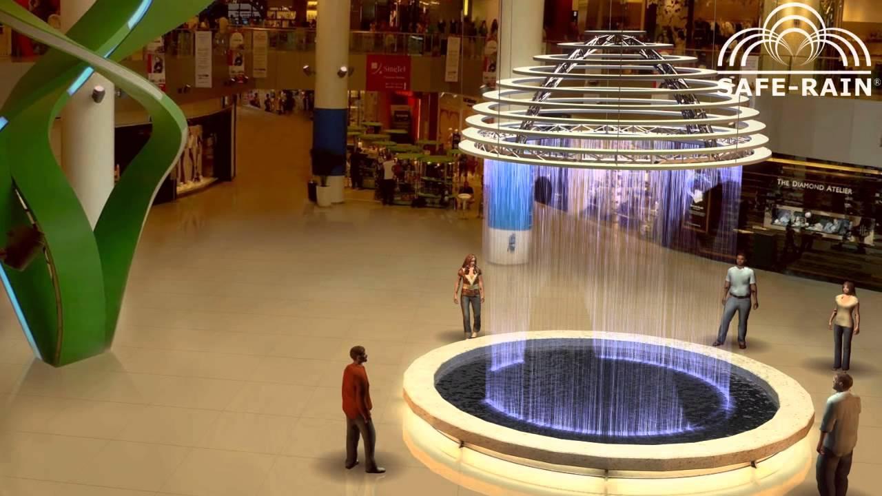 Circular Digital Water Curtain Cortina De Agua Digital